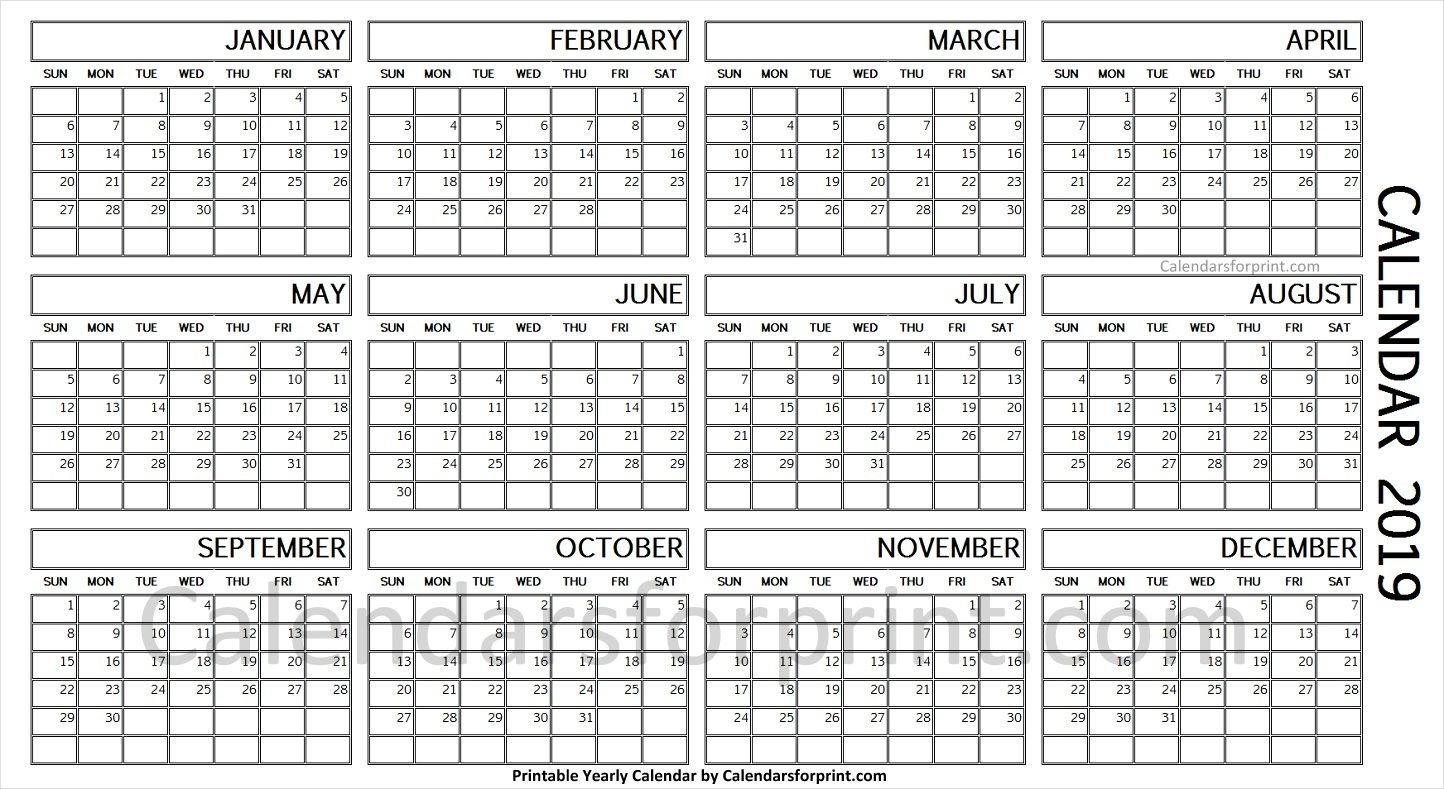 Year Calendar 1 Page | Calendar Printables Free Templates One Week Calendar To Do Page